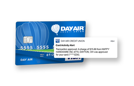 Day Air Card Activity Alerts