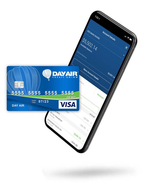 Day Air Debit Card and Mobile Banking Image